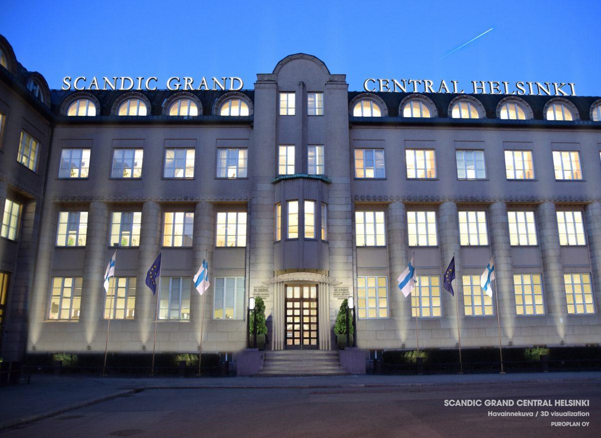 Puroplan mukana toteuttamassa hotellia Helsingin rautatieasemalle – Scandic Grand Central Helsinki